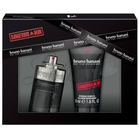Bruno Banani Dangerous Man Eau de Toilette 30 ml in 50ml gel za tuširanje